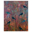 Pro Tour Memorabilia Botanical Birds Giclee Printed on Canvas