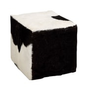Woodland Imports The Comfortable Wood Square Goat Stool