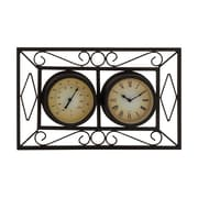 Woodland Imports Attractive Unique Styled Metal Wall Clock