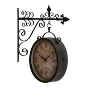 Woodland Imports Artistic and Antique Themed Double Sided Wall Clock