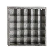 Woodland Imports Attractive Metal Storage Wall Shelf
