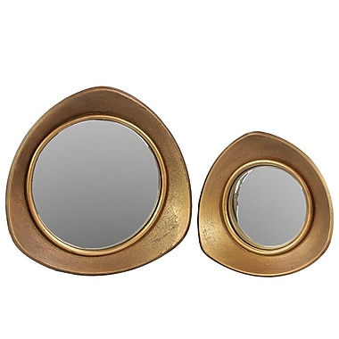 Woodland Imports 2 Piece Unique and Outstanding Design Mirror Set
