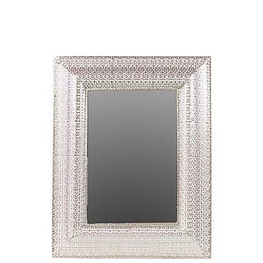 Woodland Imports Elegant Metal Mirror w/ Square Embossed Border