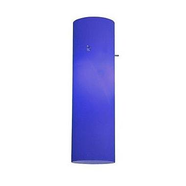 Access Lighting 22.5'' Anari Silk Glass Cylinder Pendant Shade; Cobalt