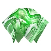 Jezebel Gallery 8.5'' Signature Glass Pendant Shade; Kelly Green and White
