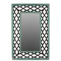 Woodland Imports Rectangular Wooden Mirror with Open Design Frame