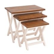 Woodland Imports 3 Piece Nesting Table