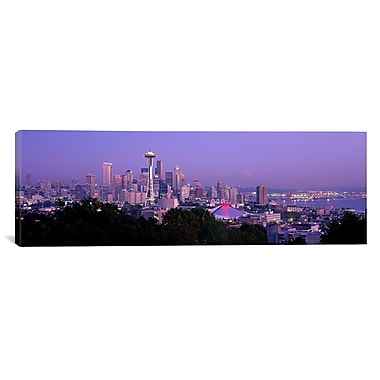 iCanvas Ponoramic Seattle WA Photographic Print on Canvas; 24'' H x 72'' W x 1.5'' D