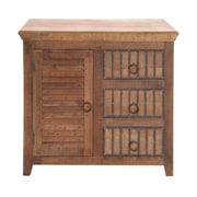 Woodland Imports The Lovely Wood 3 Drawer Cabinet