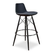 Aeon Furniture 29'' Bar Stool with Cushion (Set of 2); Grey