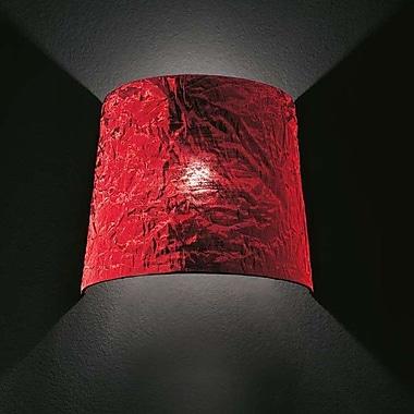 Morosini Dress 1 Light Wall Light; Red