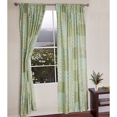 Jovi Home Flower Garden Patchwork Single Curtain Panel