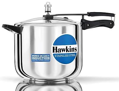 Hawkins Stainless Steel Pressure Cooker; 10.57 Quart