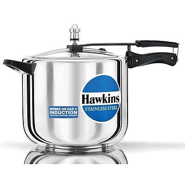 Hawkins Stainless Steel Pressure Cooker; 10.57 Quart