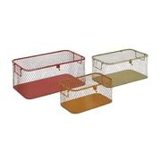Woodland Imports The Handy 3 Piece Metal Storage Box Set