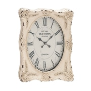 Woodland Imports Rustic Wall Clock; Distressed White