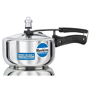Hawkins Stainless Steel Pressure Cooker; 2.11 Quart