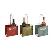 Woodland Imports Rustic 2 Bottle Tabletop Wine Rack (Set of 3)