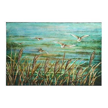 Woodland Imports Ke' i Lovely Painting Print on Canvas in Blue