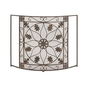 Woodland Imports 1 Panel Metal Fireplace Screen