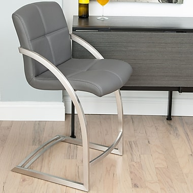 Matrix Vedo Bar Stool; Grey