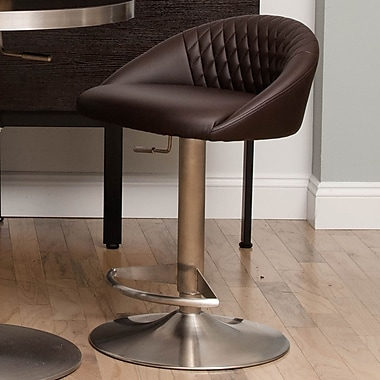 Matrix Nile 23'' Adjustable Height Swivel Bar Stool; Brown