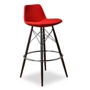 Aeon Furniture 29'' Bar Stool with Cushion (Set of 2); Red