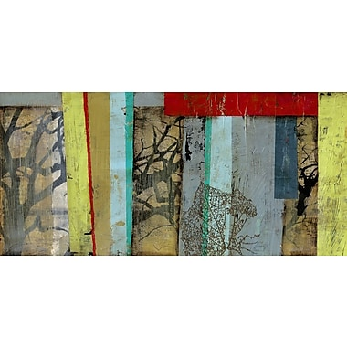 Art Effects Woven Landscape I by Jennifer Goldberger Painting Print on Wrapped Canvas