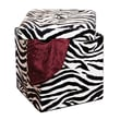Simplify Single Folding Faux leather Ottoman, Zebra