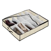 Simplify Under Bed Shoe Non Woven & Plastic Organizer