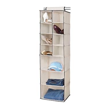 Simplify 8 Pocket Shoe Non Woven Shelf, Cream
