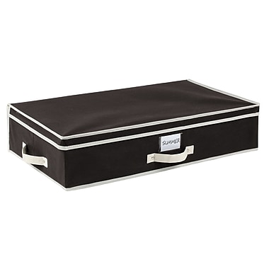 Simplify Under the Bed Polypropylene/Cardboard Storage Box, Black