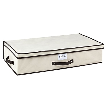 Simplify Under the Bed Polypropylene/Cardboard Storage Box, Cream