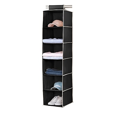 Simplify 6 Sweater Organizer Shelf, Black