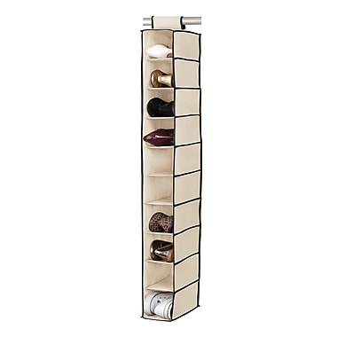 Simplify Hanging Shoe Purse Organizer Shelf, Cream