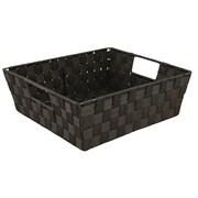 Simplify Shelf Polyester Woven Strap Tote, Black