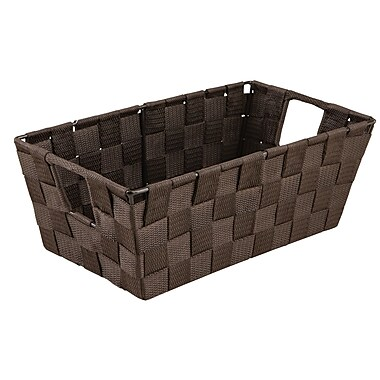 Simplify Small Shelf Polyester Woven Strap Tote, Choco