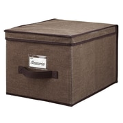 Simplify Large Polypropylene & Cardboard Storage Box, Espresso
