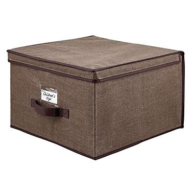 Simplify Jumbo Non Woven Storage Box, Espresso