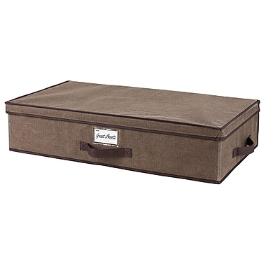 Simplify Non Woven Underbed Storage Box, Espresso