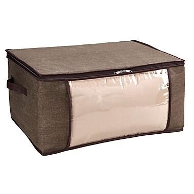 Simplify Jumbo Polypropylene Blanket Bag, Espresso