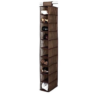 Simplify 10 Shelf Shoe Polypropylene/Cardboard Organizer, Espresso