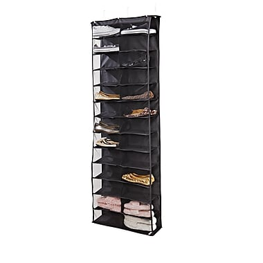 Simplify 26 SHELF Polyester Shoe Rack, Black