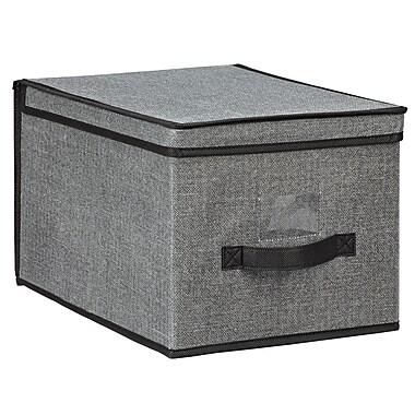 Simplify Large Polypropylene & Cardboard Storage Box, Grey