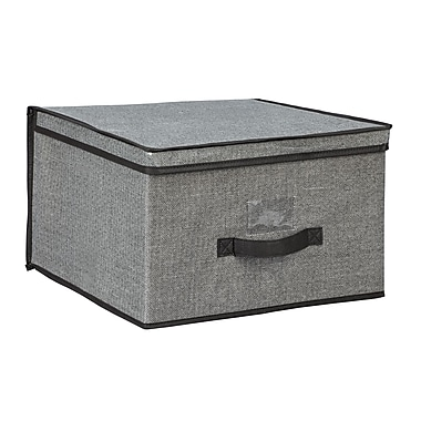 Simplify Jumbo Non Woven Storage Box, Grey