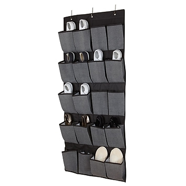 Simplify 20-pocket Shoe Non Woven Organizer, Grey