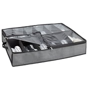 Simplify Shoe Polypropylene Organizer, Grey