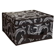 Laura Ashley Medium Polyester Storage Box, Black