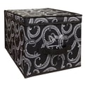 Laura Ashley Collapsible Design Lid Storage Bag, Black