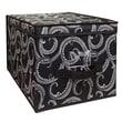Laura Ashley Collapsible Design Lid Storage Bag, Black